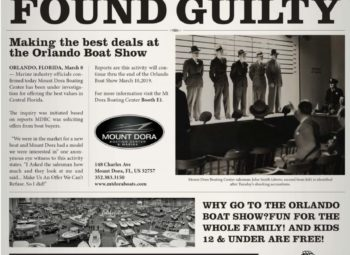 Mount Dora Boating Center Found Guilty !
